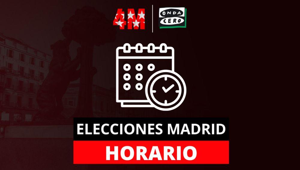 ¿A qué hora se conocerán los resultados de las elecciones en Madrid?