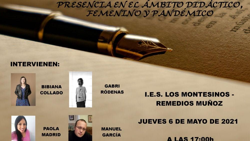 El evento, que tendrá lugar en el propio IES a las 17h de la tarde cuenta con la participación de Bibiana Collado, Gabri Ródenas, Paola Madrid Moctezuma y Manuel García Pérez