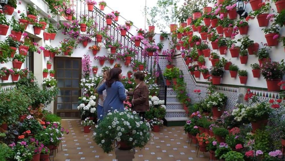Los patios de las casas de nuestros pueblos se llenan de flores