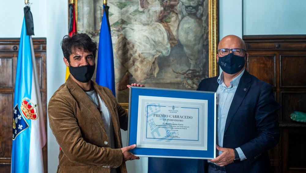 """Brais Lorenzo recibe XXXI Premio """"Xosé Aurelio Carracedo"""""""