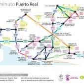Mapa del nuevo metrominuto de Puerto Real