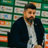 Christian Bragarnik, en su primera rueda de prensa como propietario del Elche CF.
