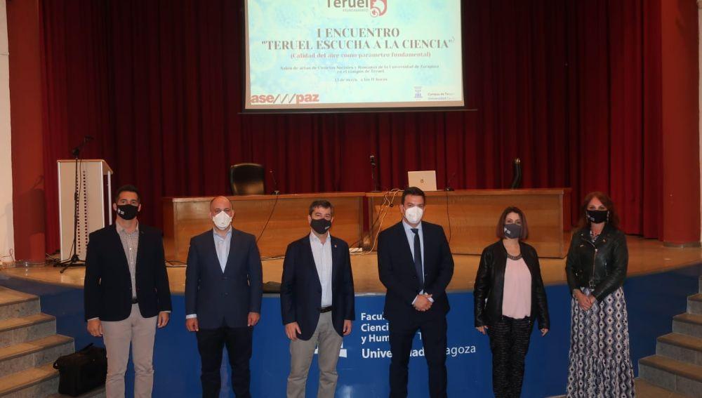 Representantes institucionales en Teruel en la Ciencia