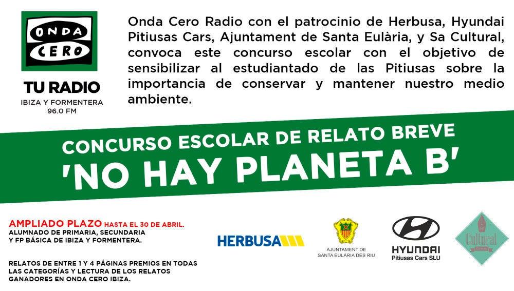 El concurso de relato escolar de Onda Cero 'No hay planeta B' ya tiene ganadores