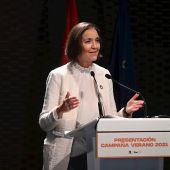 La ministra de Turismo, Reyes Maroto
