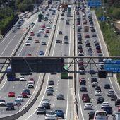 Estado del tráfico en la A6. carretera de A Coruña, en sentido salida de Madrid