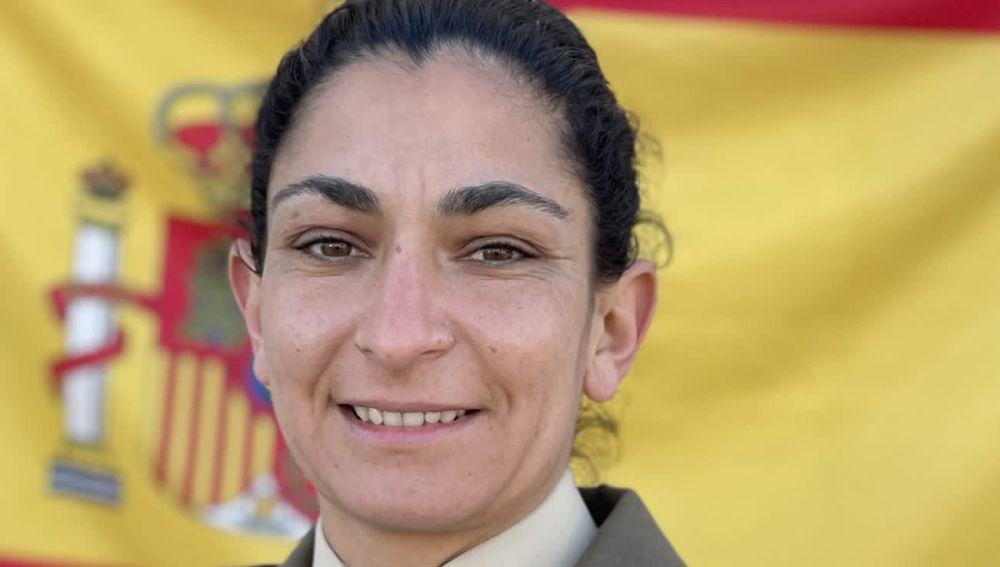 Débora Grau Serra, sargento del Regimiento de Artillería de Costa nº4.