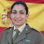 Sargento de artillería Débora Grau
