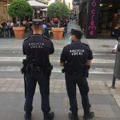 Control policial en el entorno de la calle Castaños