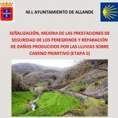 Obras de reparación en el Camino de Santiago