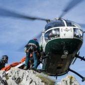 Rescatados dos montañeros en la cara norte del Espigüete