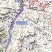 Zona donde se construirá el enlace entre las dos carreteras