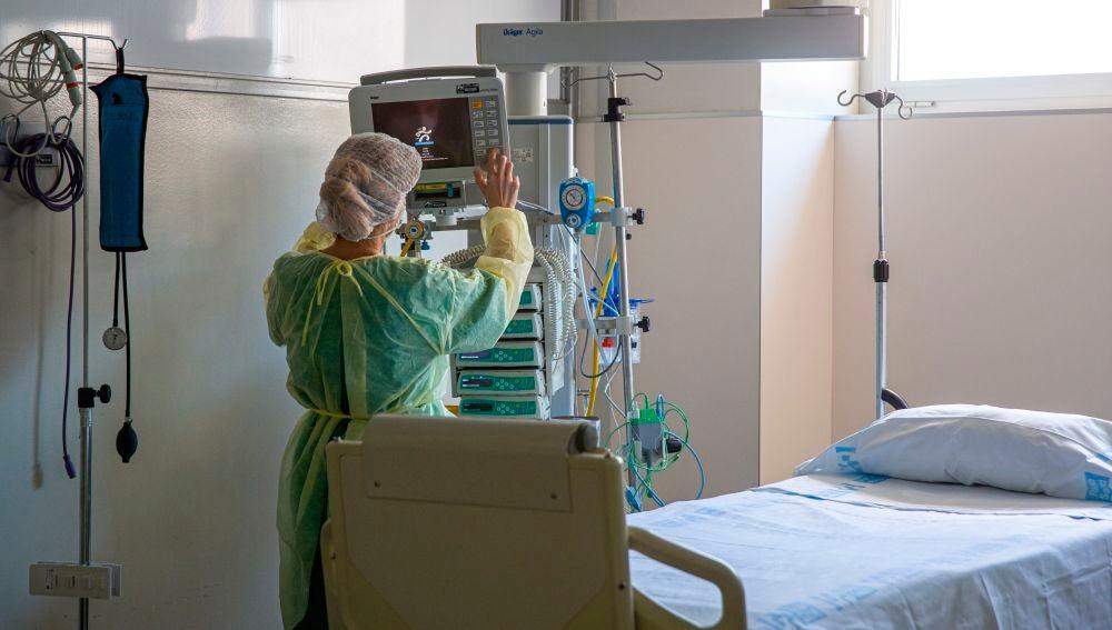 Vista de una habitación de un hospital.