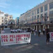 La concentración se ha celebrado en la Plaza Mayor