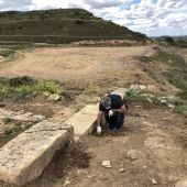 Trabajos en la ciudad romana de Los Bañales