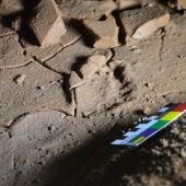Pisadas de niños encontradas en La Garma