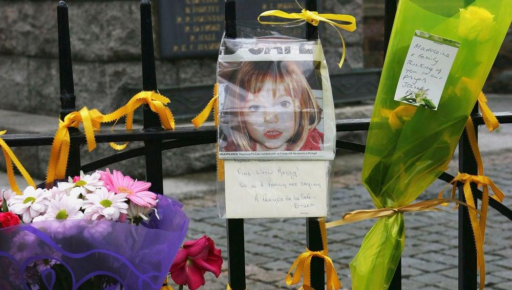 Mensajes de apoyo tras la desaparición de Madeleine McCann en Reino Unido.