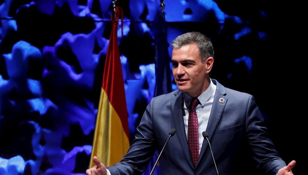 El presidente del Gobierno, Pedro Sánchez, pronuncia un discurso durante la inauguración del IV Congreso Iberoamericano CEAPI