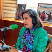 Margarita Robles durante la entrevista en Onda Cero