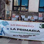 Concentración ante la sede del SESPA (Oviedo)