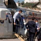 Pedro Sánchez, a su llegada a Ceuta.