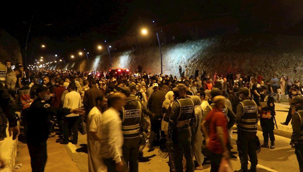 Llegada masiva de inmigrantes a Ceuta