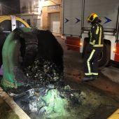 Arden cinco contenedores en Tarancón en una noche