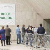 Vacunación en el Palacio de Congresos de Cáceres