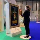 Avatar virtual de Goya en el stand ed Aragón en Fitur