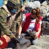 Intervención de Cruz Roja en Ceuta