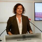 La portaveu del PSC, Alicia Romero, en una compareixença al Parlament.