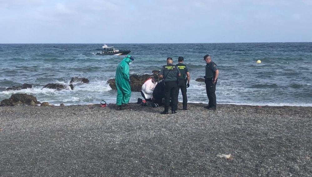 Imágenes de la segunda víctima mortal en El Tarajal