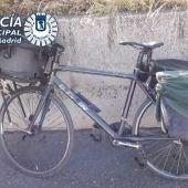 La bicicleta del 'robapatos'.