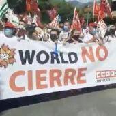 Manifestación contra el cierre de Tívoli World