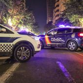 Dispositivo nocturno en la ciudad de Alicante para controlar el toque de queda.
