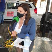 La alcaldesa de San Fernando, Patricia Cavada, en una entrevista en Más de Uno