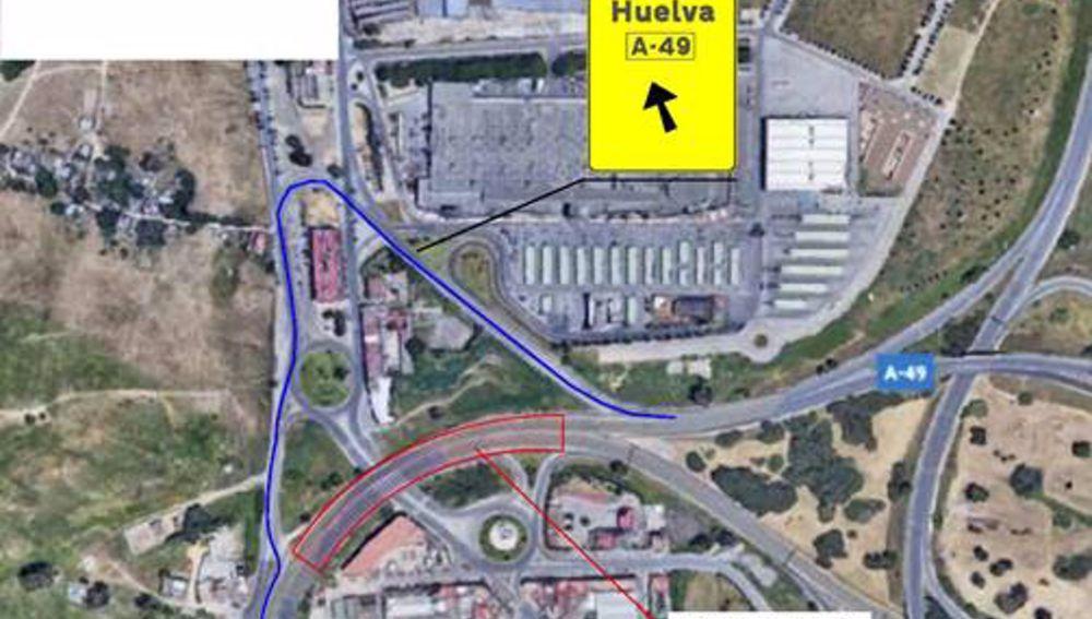 Los cortes de tráfico se producirán en la A-49 y la N-630