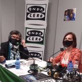Sara Fernández, vicealcaldesa de Zaragoza, con Esther Eiros en Gente Viajera