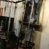 Algunas imágenes de la Iglesia de San Juan Bautista de Elche han quedado seriamente dañadas.