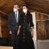 Los reyes reivindican a las victimas del terrorismo en su visita al zulo de Ortega Lara