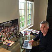 Ancelotti en su despacho