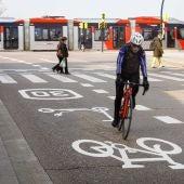 Ciclista en Zaragoza