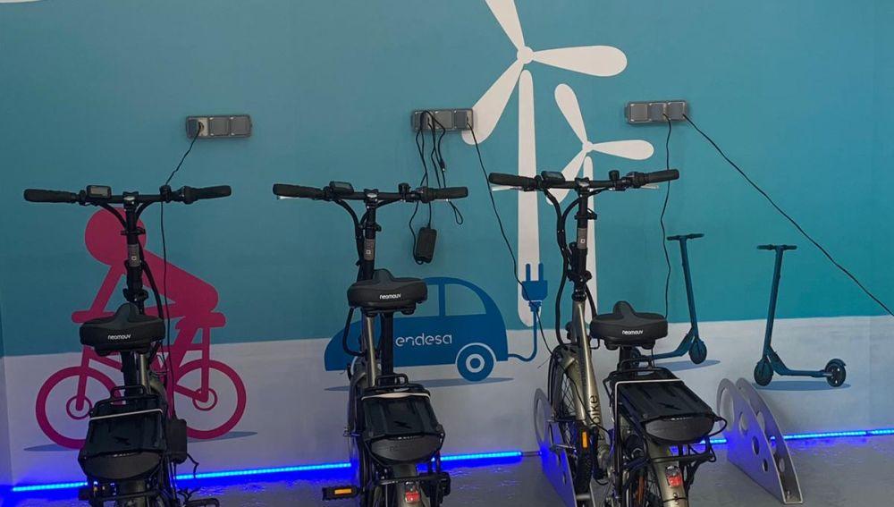 Aparcamiento de Bicis eléctricas en ENDESA
