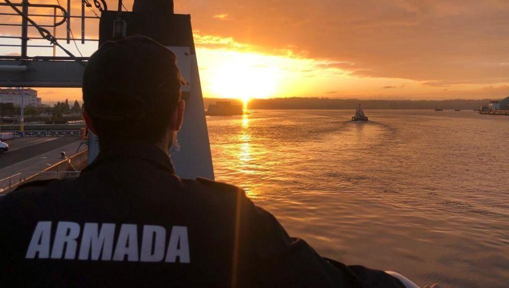 """Herraiz estará dos meses en el  patrullero """"Arnomendi"""", buque de inspección pesquera"""