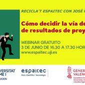 La Protección de resultados de proyectos I+D+I, tema central del próximo RECICLA'T ESPAITEC+