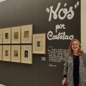 """Ángeles Tilve na sala de exposición de """"Castelao"""""""