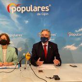 Rueda de prensa del PP de Gijón