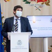 López Miras considera que las medidas del Ministerio son una imposición y supondrán un retroceso