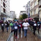 Manifestación de hosteleros de Santoña