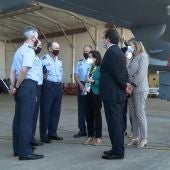 La ministra de Defensa visita la Base Aérea de Talavera para conocer los Drones Predator del Ejército del Aire